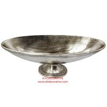 Silver Metal Flower Bowl