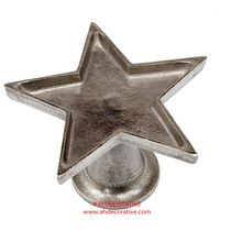 Silver Metal Star Candle Holder