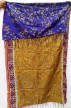 Hand Stitch Vintage Silk Kantha Shawls