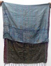 Vintage Silk Kantha Shawls