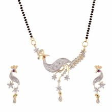 American Diamond Peacock Mangalsutra Set