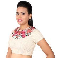 Cotton Khadi Look Blouse