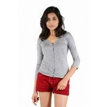 Girls Full Sleeve Lycra Button Top