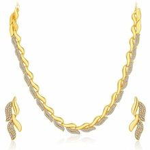 Graceful Gold Plated Necklace Set