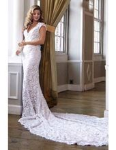 Lace Short Sleeve Bridal Gown