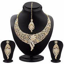 Sleek Rhodium plated Necklace Set