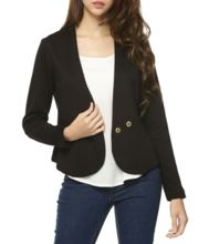 Womens Curved Front Panel Blazer