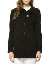 Womens Long Double Breasted Coat