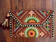 patch work embroidery stylish hand bag