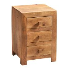Wooden Three Drawers Bedside