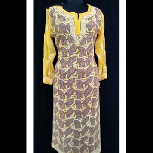 Cotton Designer Printed Casual Wear Kurti