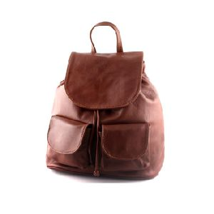 Soft Leather Backpack College Bag