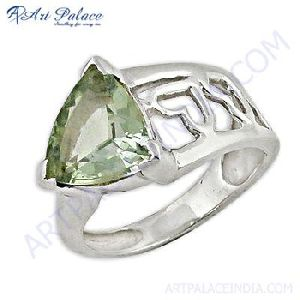Green Amethyst Antique Shape Rings