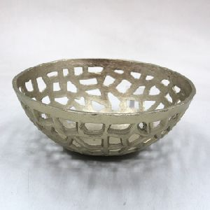Aluminium Decorative Round Bowl