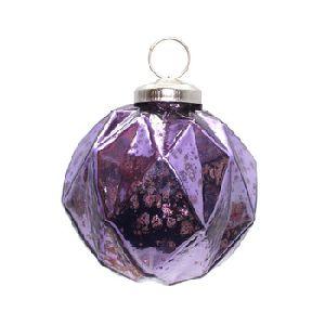 Antique Purple Christmas Decor Hanging Balls