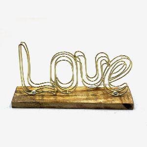 Brass Iron Wire Love Text