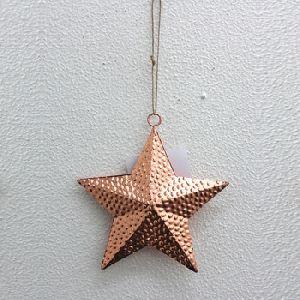 Copper Plating Iron Metal Hanging Star