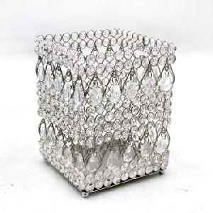 Glass Ceramic Square Candle Votive Holder
