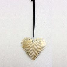 Hanging Heart Ornaments White Gold
