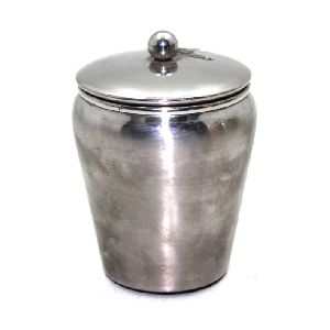Metal Stainless Steel Round Powder Pot