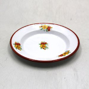 Off White Iron Decorative Serving Plates