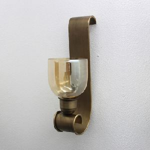 Smoke Brass Glass Iron Wall Sconce
