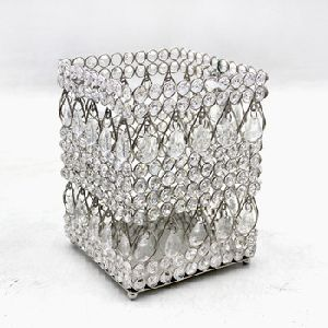 Square Crystal Decorative Votives Candle Holders