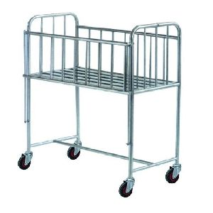 Hospital Stainless Steel Baby Cot