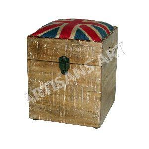 Storage Box With Wine Bottle Holder