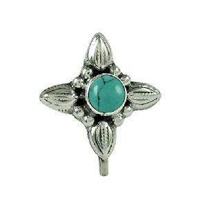 99b880380d24 Stunning Turquoise Gemstone 925 Sterling Silver Nose Pin Jewellery