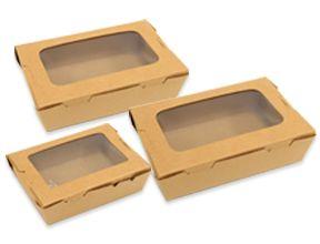 Kraft Pe Lunch Box With Window