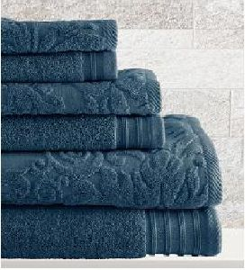 Solid Dyed Jacquard Bamboo Cotton Towel