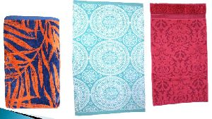 Yarn Dyed Jacquard Velour Bath Towel