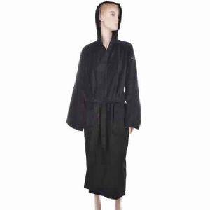 Benetton Black Solid Bath Robe