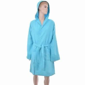 Benetton Honeycomb Blue Bath Robe