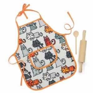 Feiler Cats Chenille Children Apron