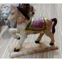 Colorful Stone Horse Statue