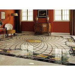 Exclusive Marble Inlay Flooring