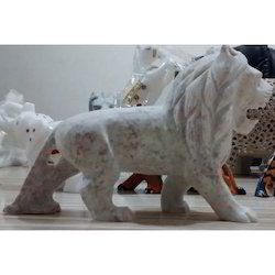 Handcrafted Stone Lion Sculptures