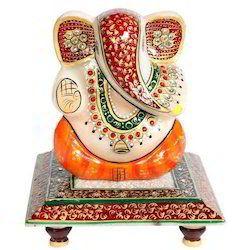 Marble Ganesh Statue Chowki