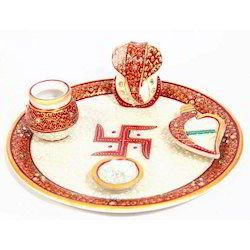 Wedding Gift Marble Pooja Plate