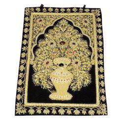 Zari Embroidery Wall Carpet