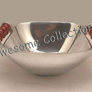 Aluminium Silver Serving Bowl