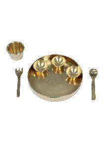 Pital Ki Thali/brass Plate Set