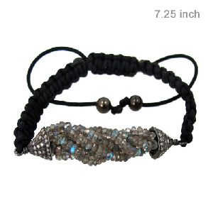 925 Sterling Silver Tassels Beaded Bracelets