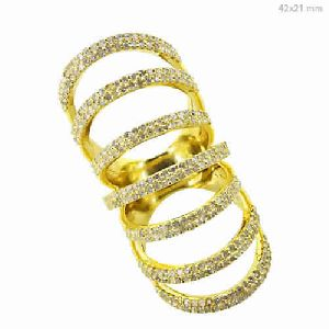 Yellow Gold Pave Diamond Cage Ring