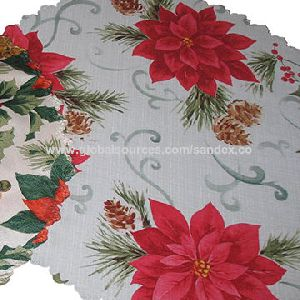 Printed Table Cloth, Made Of 100% Polyester, Customized Design Welcome/accepted