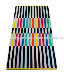 Velour Beach Towel, Made Of 100% Soft Cotton, With High Quality , Customized Design Available
