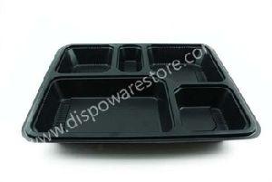 Disposable compartmental plastic plate