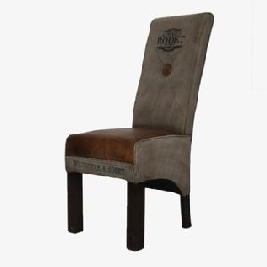 Canvas Leather Chair